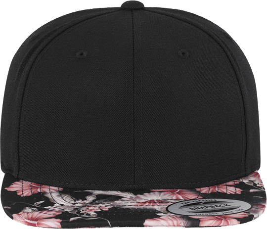 Floral Snapback Unisex red