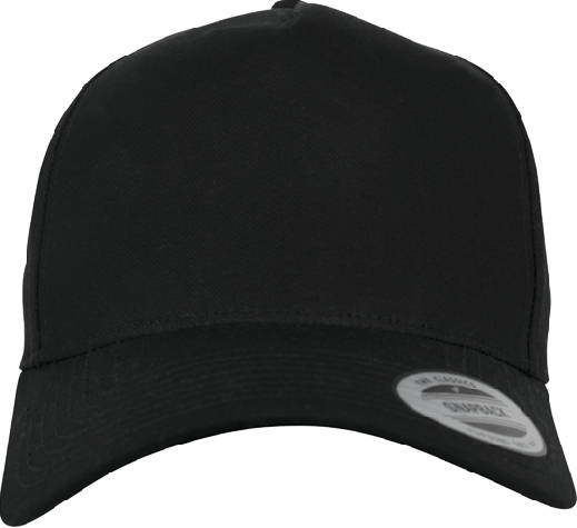 5 Panel Curved Classic Snapback Black