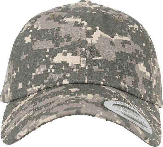 Low Profile Digital Camo Cap washed putty