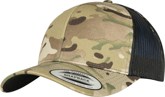 Multicam Retro Trucker Snapback Multicam