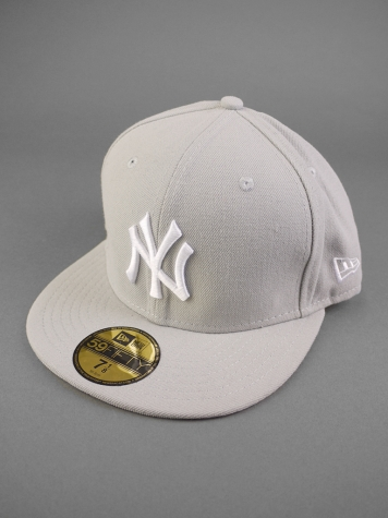 New Era NY Yankees Cap light grey /white 7 5/8 - 60,6cm