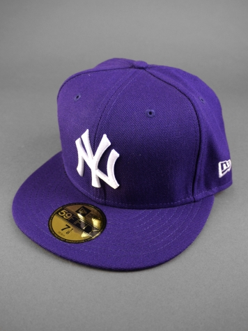New Era NY Yankees Cap purple/white