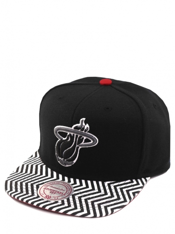 Mitchell & Ness Snapback Miami Heat black/white