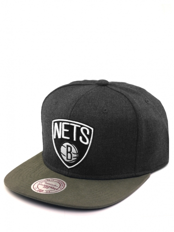 Mitchell & Ness Snapback Brooklyn Nets darkgrey