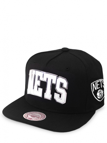 Mitchell & Ness Snapback Cap Brooklyn Nets Blacked Out Sonic