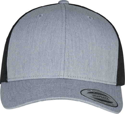 Retro Trucker Cap 2-Tone Heather / Black