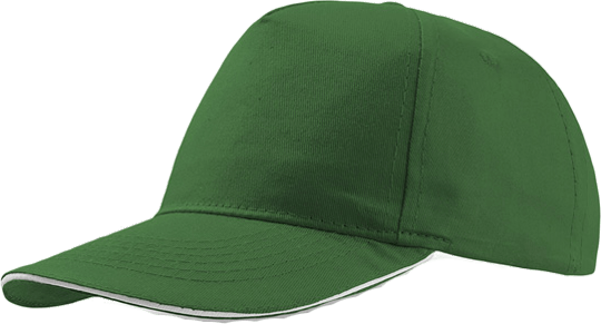Sandwich Cap Star Five Unisex Green/White