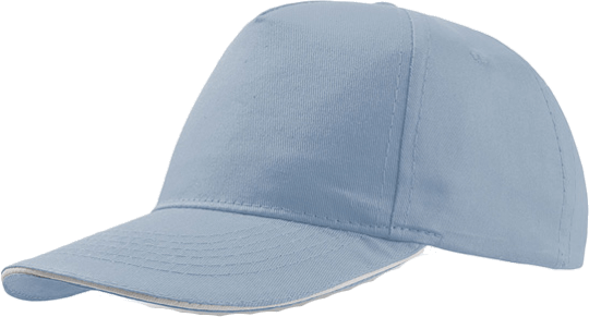 Sandwich Cap Star Five Unisex Lightblue/White