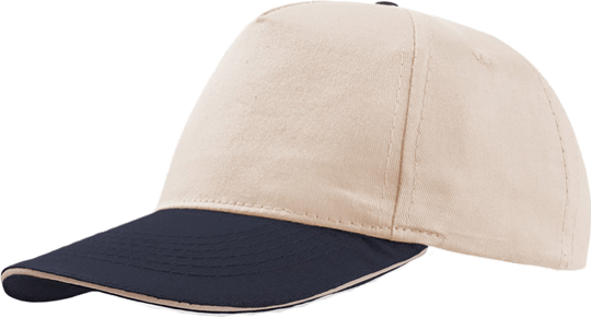 Sandwich Cap Star Five Unisex Natural/Navy