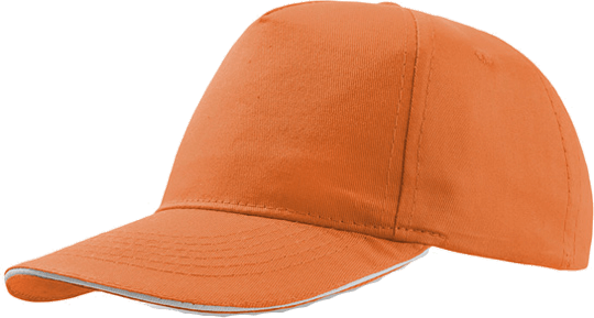 Sandwich Cap Star Five Unisex Orange/White