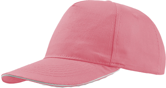 Sandwich Cap Star Five Unisex Pink/White