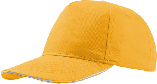 Sandwich Cap Star Five Unisex Yellow/White