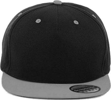 5 Panel Contrast Snapback Black /Grey