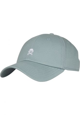 C&S PA Small Icon Curved Cap tidal foam/white   one size